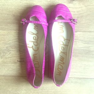 NWOB Sam Edelman Purple Flats